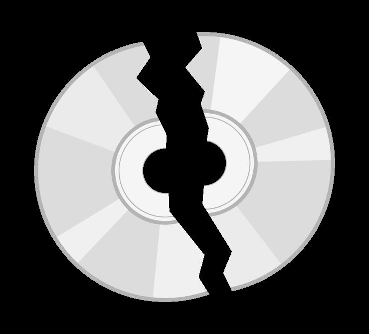 割れたディスクのイラスト