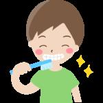 歯磨きをしている男の子のイラスト
