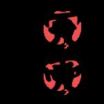 赤丸と「完売しました」の文字イラスト