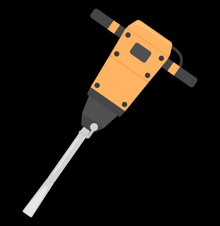 削岩機のイラスト