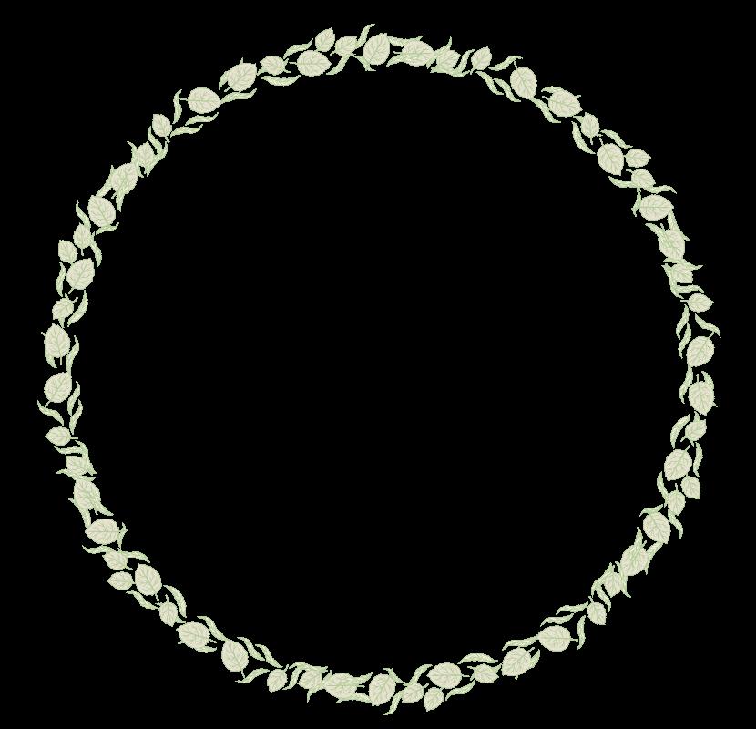 葉っぱや植物のサークルのフレーム・飾り枠のイラスト