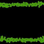葉っぱ・蔦の上下のフレーム・飾り枠のイラスト
