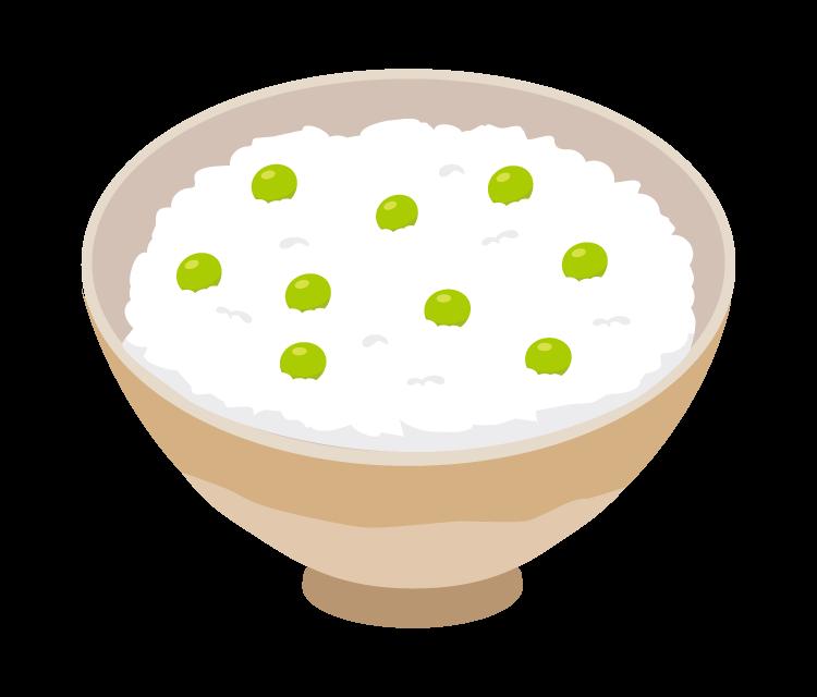 豆ご飯のイラスト
