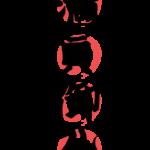 赤丸と「満員御礼」の文字イラスト