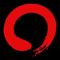 筆で書いた赤い丸のイラスト