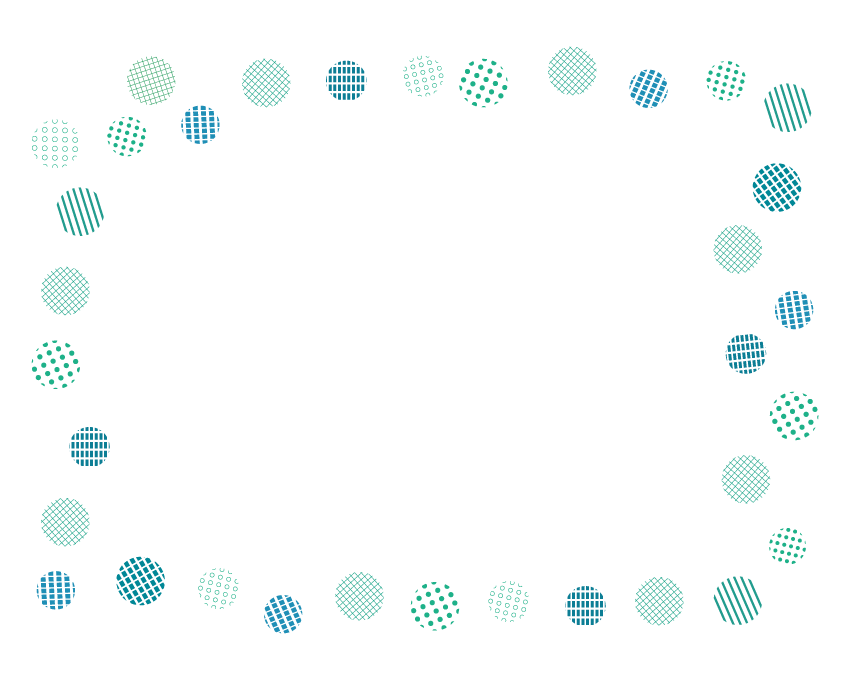いろいろな水玉模様のフレーム・飾り枠のイラスト