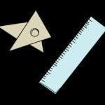 物差しと三角定規のイラスト
