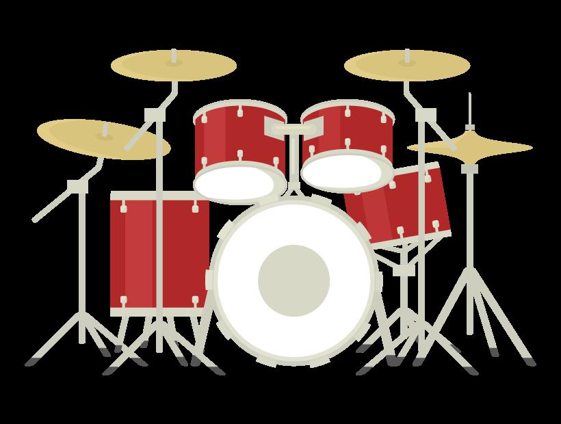 ドラムセット(ドラムス)のイラスト