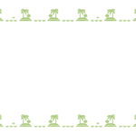 南国の島のシンプルなフレーム・飾り枠のイラスト