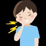 首の痛み(男性)のイラスト