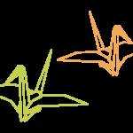 二羽の折り鶴イラスト