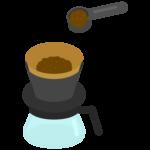 ペーパードリップコーヒーのイラスト