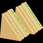 ライ麦パンのサンドウィッチのイラスト