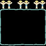 学校の水泳のフレーム・飾り枠のイラスト