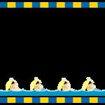 スイミングのフレーム・飾り枠のイラスト
