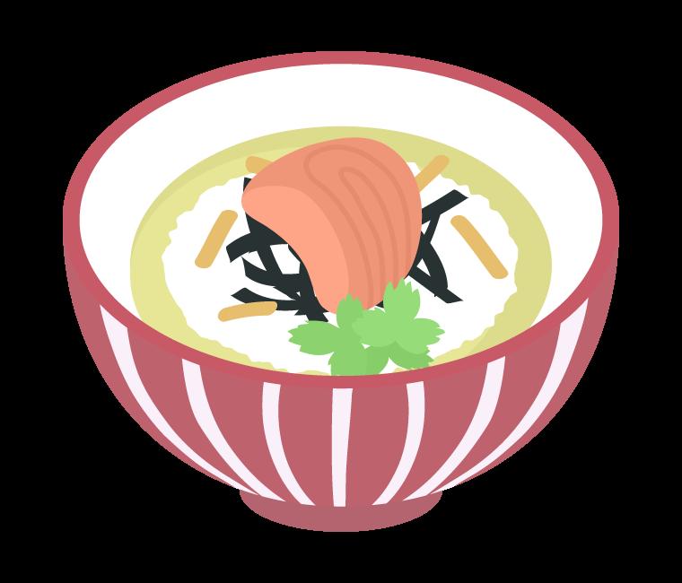 鮭茶漬けのイラスト