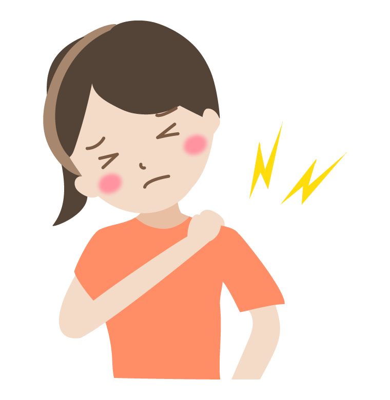 肩の痛み(女性)のイラスト
