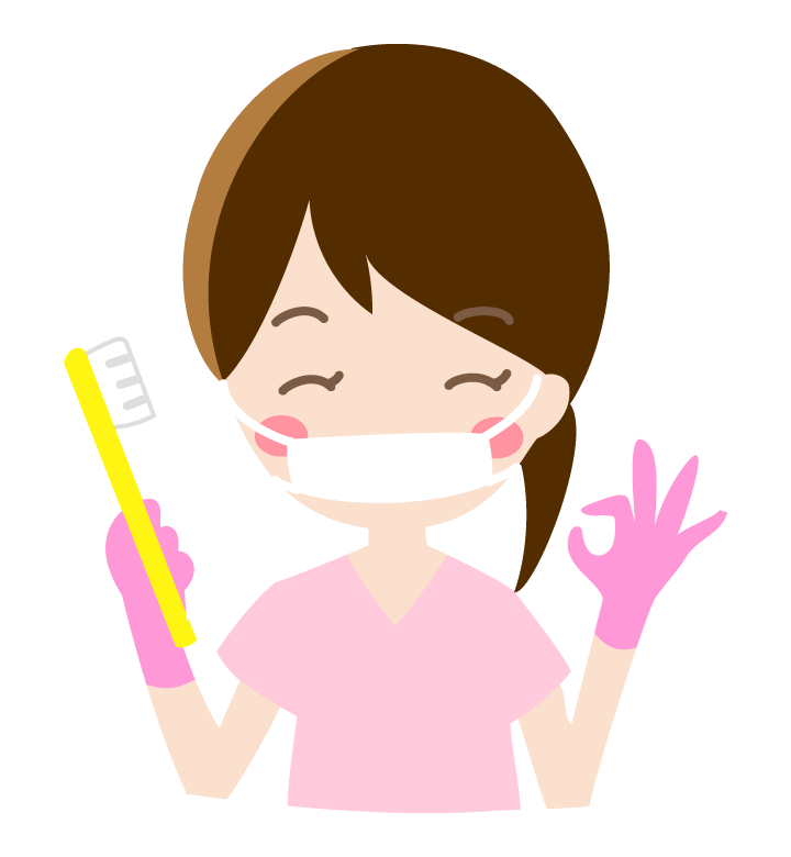OKをする歯科衛生士さんのイラスト