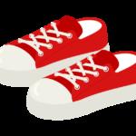 赤いスニーカーのイラスト