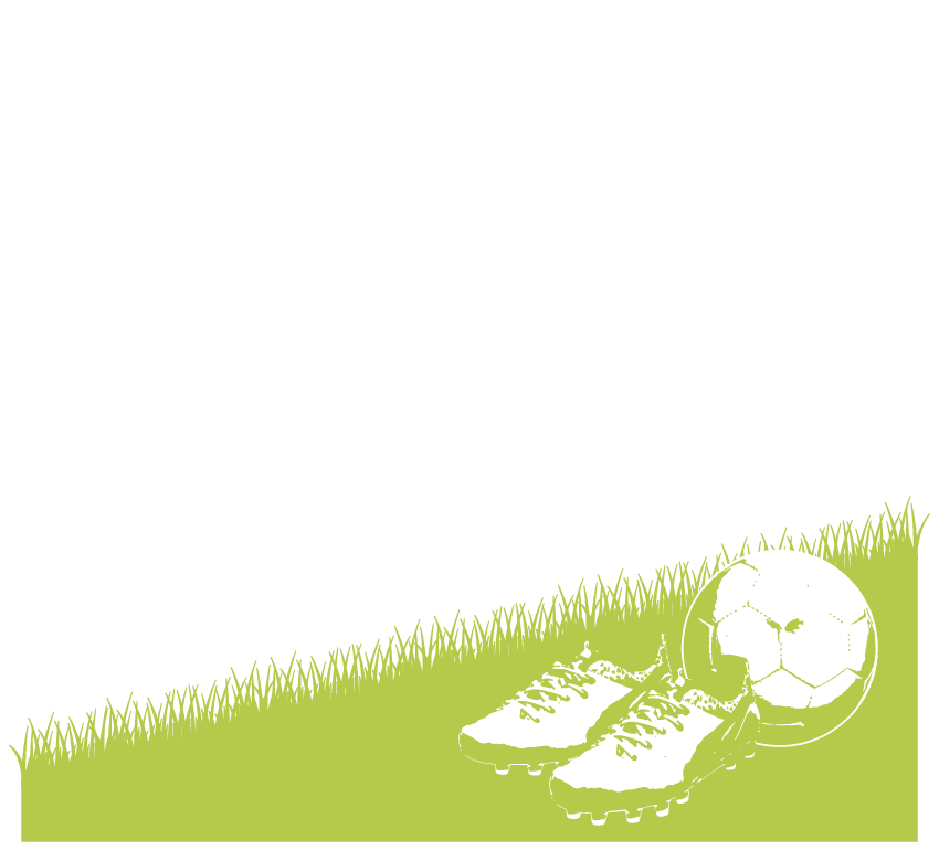 サッカーシューズとボールのフレーム・飾り枠のイラスト