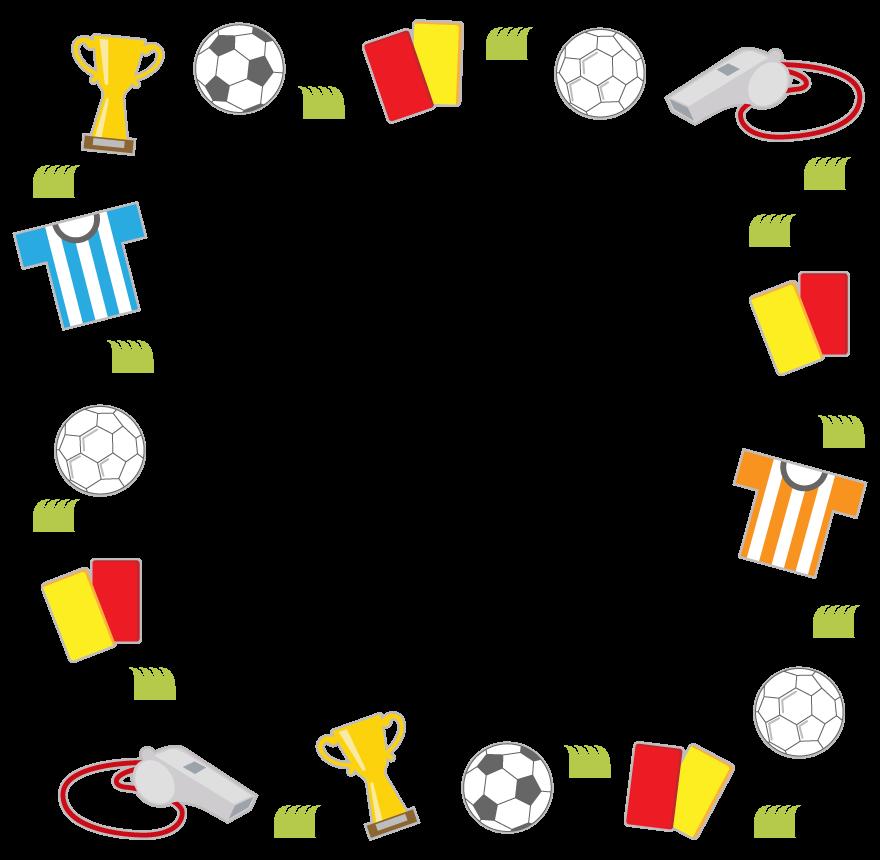 サッカーのフレーム・飾り枠のイラスト