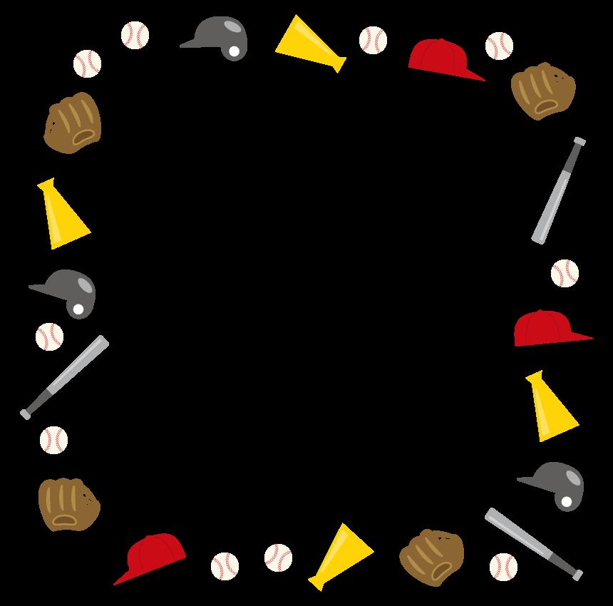 野球のフレーム・飾り枠のイラスト