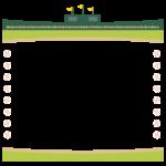 野球のスタジアムのフレーム・飾り枠のイラスト