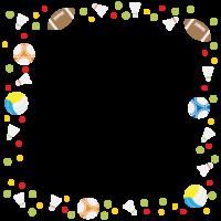 スポーツのフレーム・飾り枠のイラスト