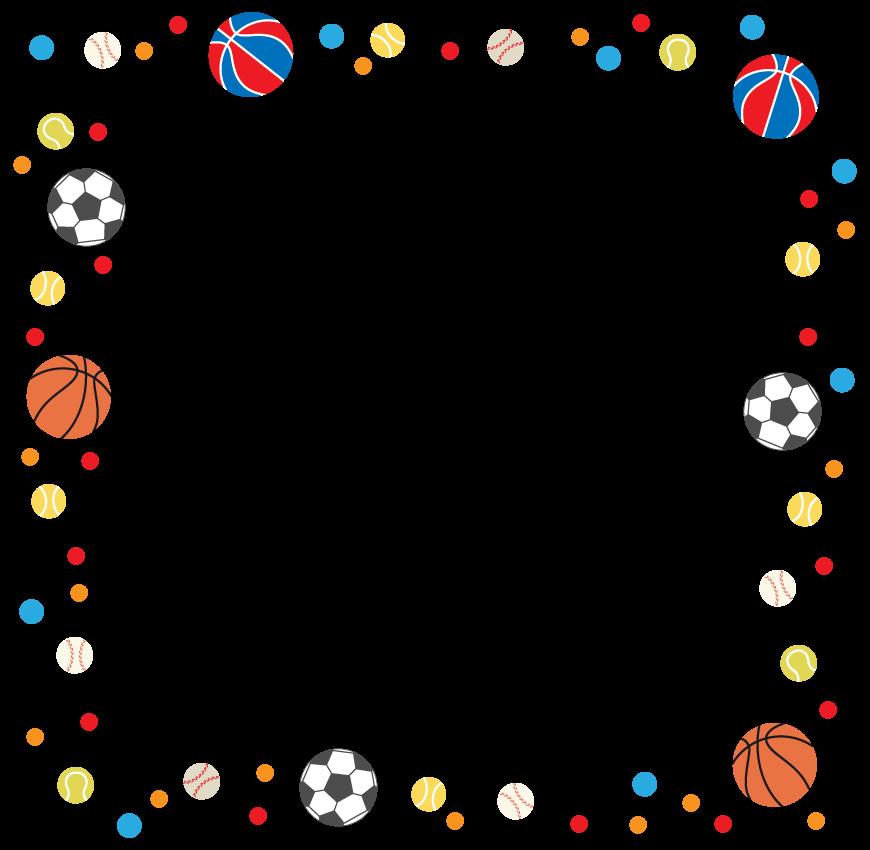 球技のスポーツのフレーム・飾り枠のイラスト
