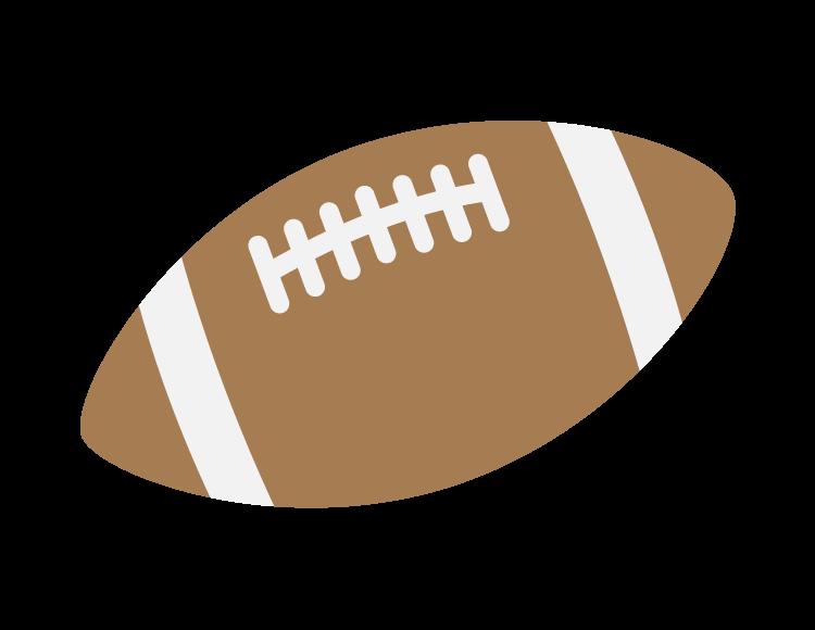 ラグビーボールのイラスト