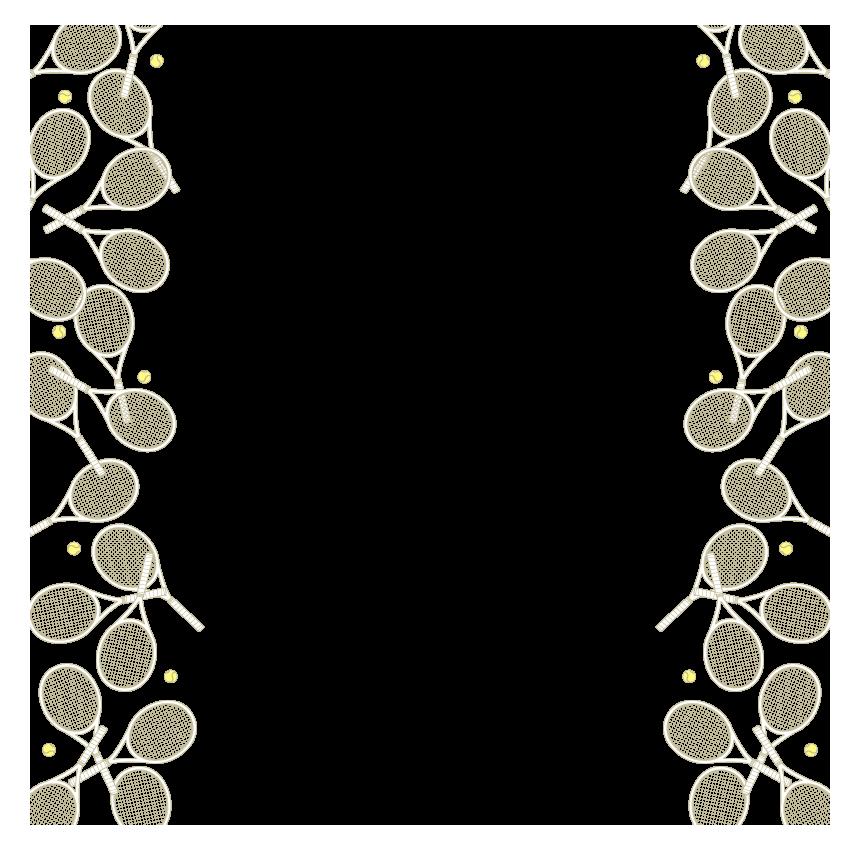 テニスラケットのフレーム・飾り枠のイラスト