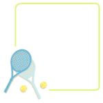 テニスのフレーム・飾り枠のイラスト