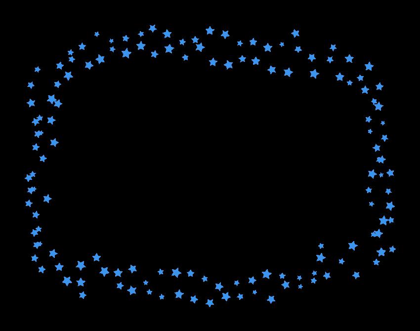 散りばめられた星のフレーム・飾り枠のイラスト