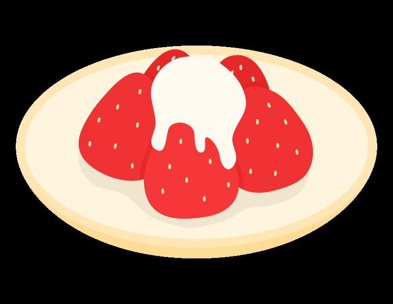 苺とコンデンスミルクのイラスト