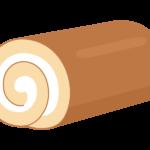 ロールケーキ(一本)のイラスト
