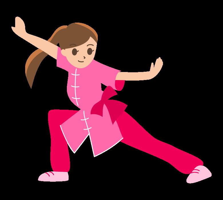太極拳(若い女性)のイラスト