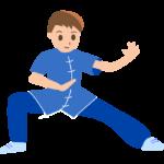 太極拳(若い男性)のイラスト