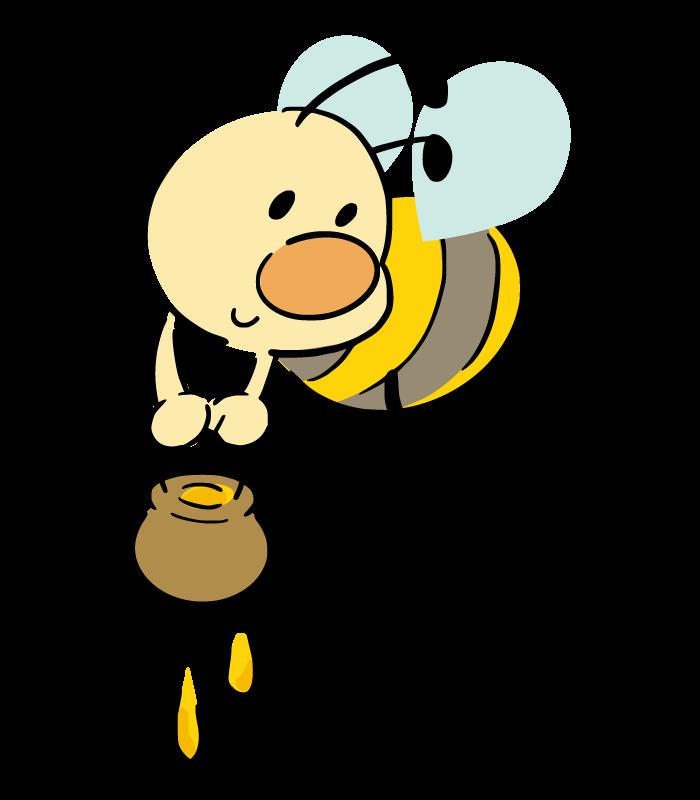 手書き風のミツバチのイラスト