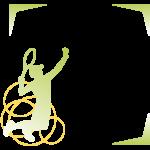テニスのスマッシュのフレーム・飾り枠のイラスト