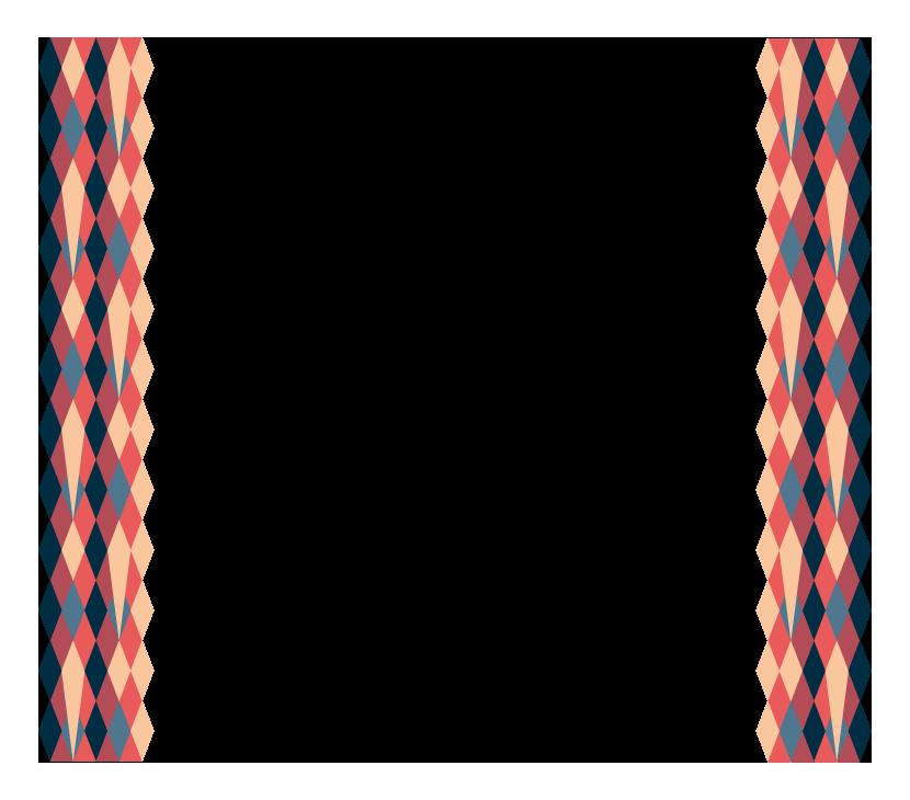 幾何学的模様の左右フレーム・飾り枠のイラスト