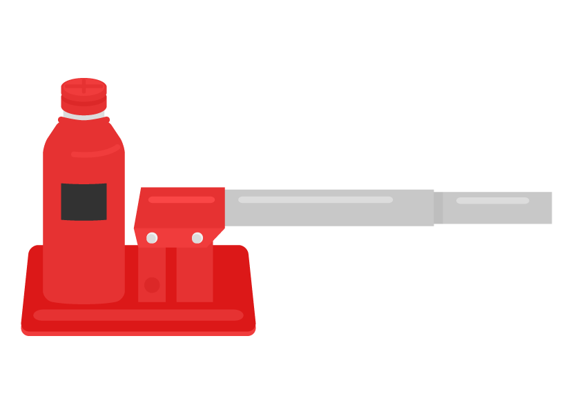 油圧ジャッキのイラスト