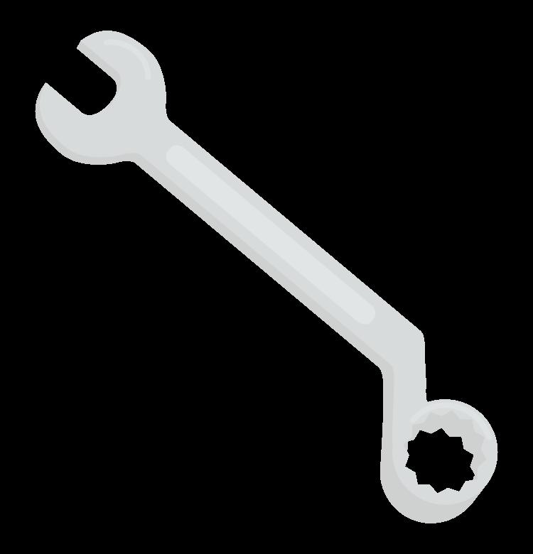 工具・コンビネーションレンチのイラスト