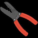 工具・電工ペンチのイラスト