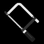 糸のこぎり(ストレートエンド型)のイラスト