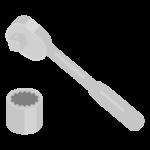 工具・ソケットレンチのイラスト
