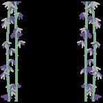 竹の和風フレーム・飾り枠のイラスト