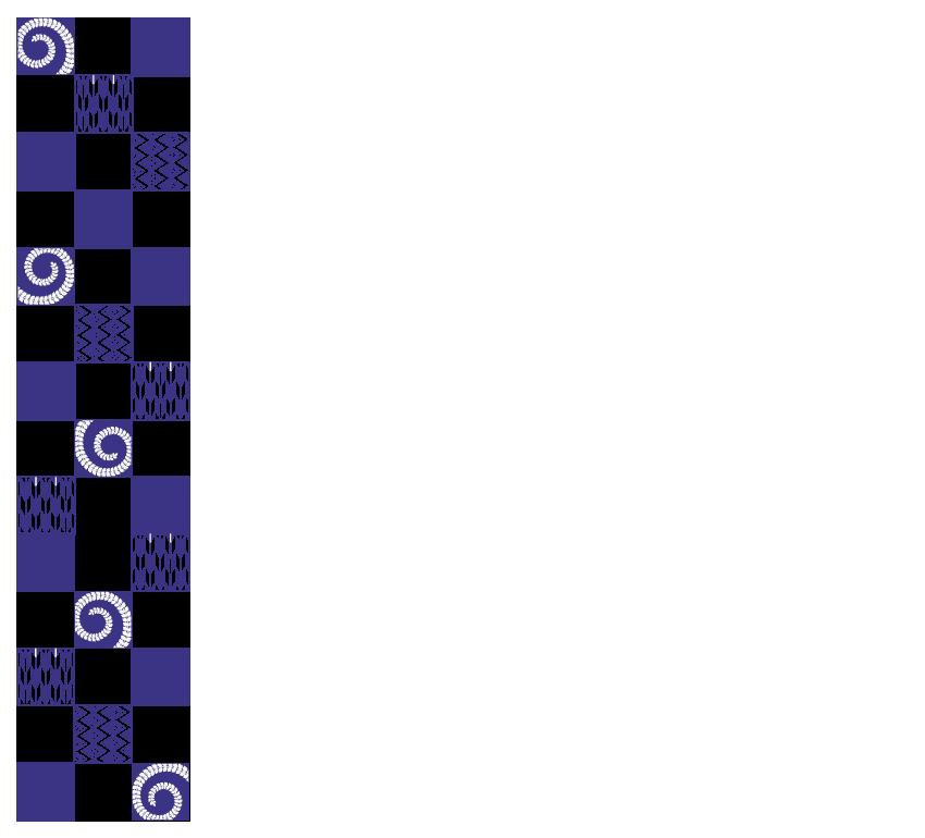 紺色の和模様のフレーム・飾り枠のイラスト