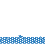 和模様の波のフレーム・飾り枠のイラスト