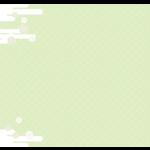 雲と和模様のフレーム・飾り枠のイラスト