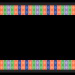 和模様の上下フレーム・飾り枠のイラスト